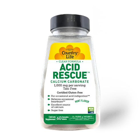 Country Life Acid Rescue 1000mg Mint