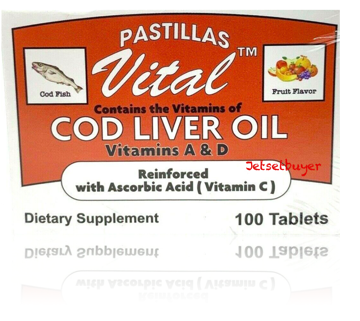 Vital Cod Liver Oil Vitamin C, A, D and Zinc 100 tabs