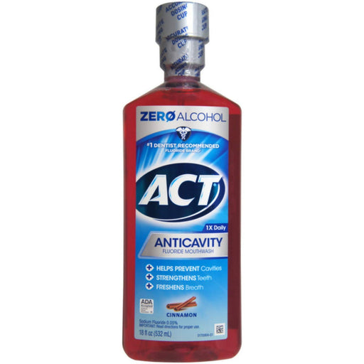 ACT Anticavity Fluoride Rinse. Cinnamon. 18 Oz