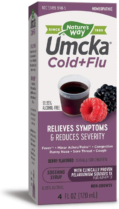 Nature's Way Umcka Cold+Flu Berry Flavored, 4 oz.