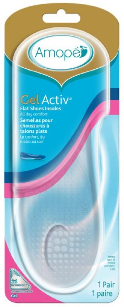 Amope Gel Activ Flat Shoes Insoles, 1 Count