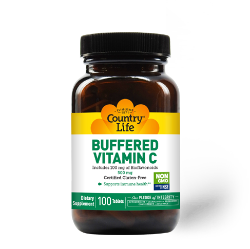 Country Life Buffered Vitamin C with Bioflavonoids 500mg