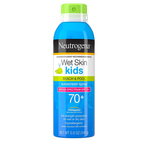 Neutrogena Wet Skin Kids Sunscreen Spray, Water-Resistant and Oil-Free SPF 70