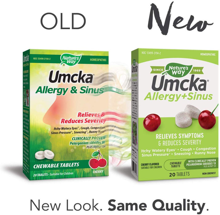 Nature's Way Umcka Allergy and Sinus Chewable Tablets