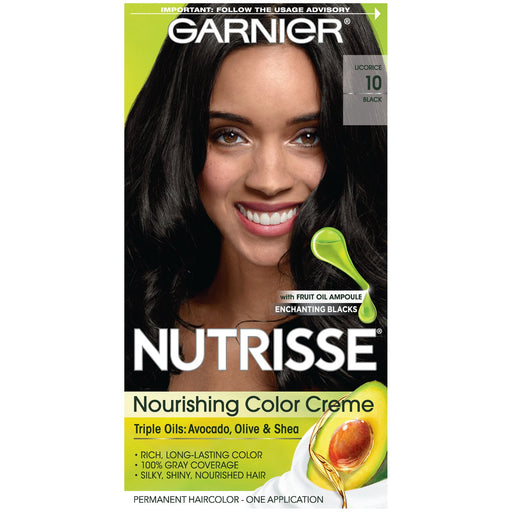Garnier Nutrisse Nourishing Color Creme Black 10