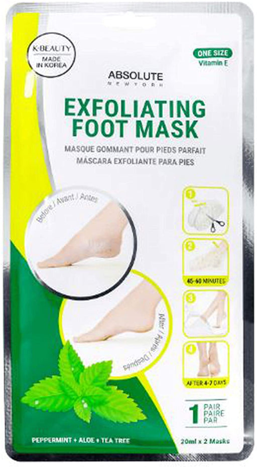 Absolute New York EXFOLIATING FOOT MASK 1pair