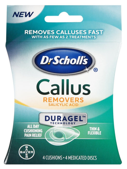 Dr. Scholls Callus Removers 4 Cushions - 4 Medicated Discs