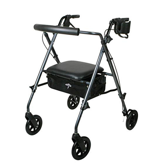 Medline Deluxe Rolling Walker and Cane