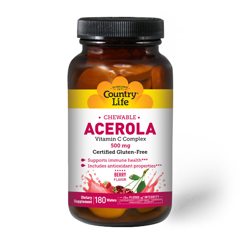 Country Life Acerola Chew 500mg
