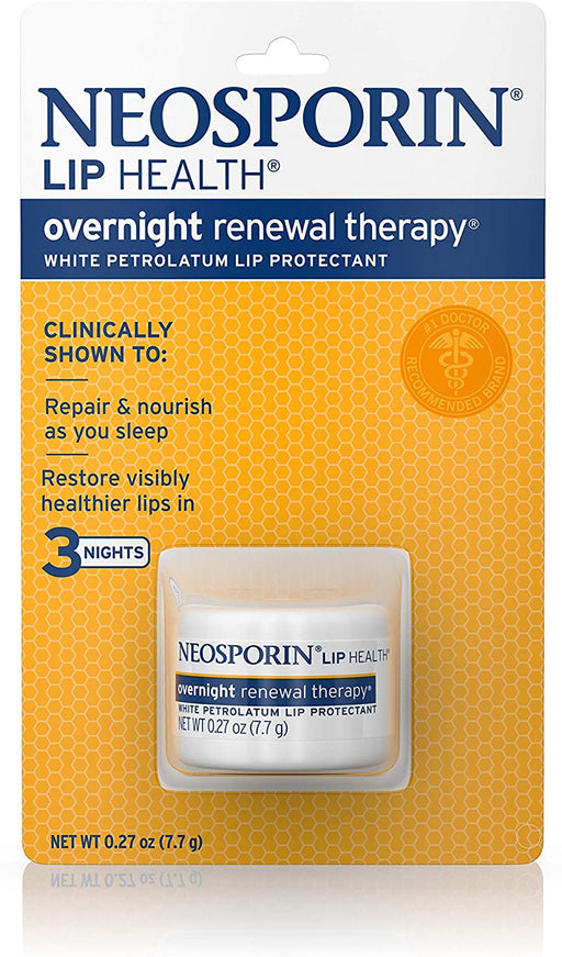 Neosporin Lip Health Overnight Healthy Lips Renewal Therapy Petrolatum Lip Protectant 0.27 oz