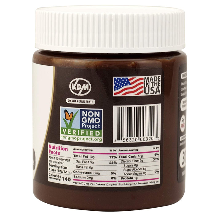 Nutilight Sugar-Free Keto-friendly Hazelnut Spread and Dark Chocolate 11 Ounces