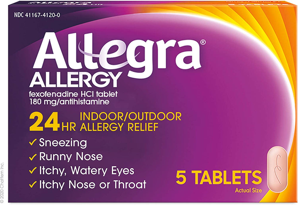 Allegra Adult 24 Hour Allergy Relief, 5-Count