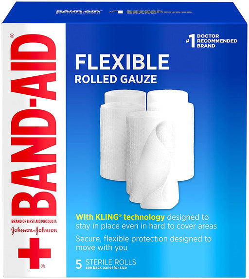 Band Aid Flexible Rolled Gauze Dressing