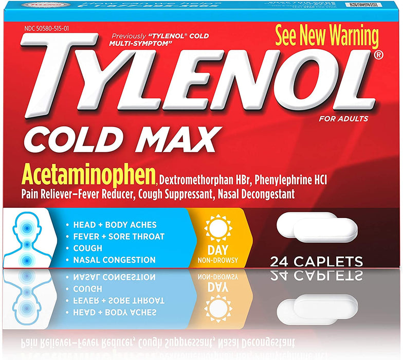 Tylenol Cold Max Multi-Symptom Relief Caplets, 325 mg. 24 Count