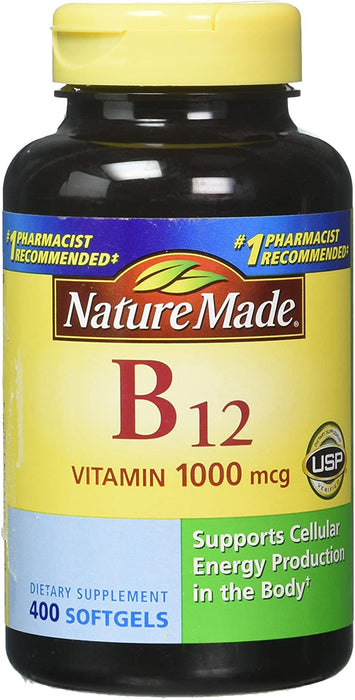 Nature Made Vitamin B12 1000 mcg 400 Softgels