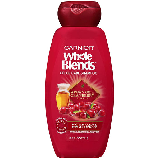 Garnier Whole Blends Color Care Shampoo with Argan Oil and Cranberry Extracts, 12.5 oz