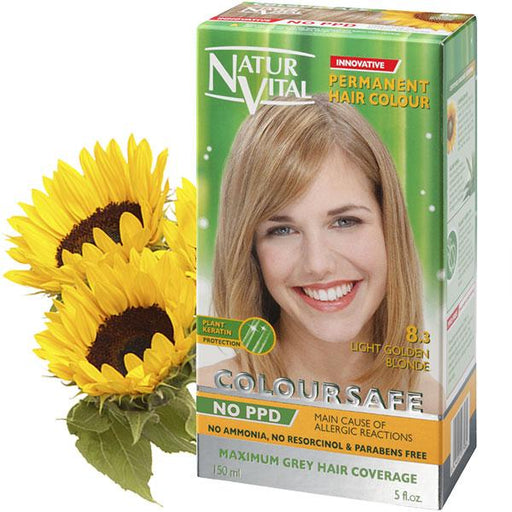 Naturvital-Ppd Free Coloursafe Light Golden Blonde No. 8.3 Hair Dye
