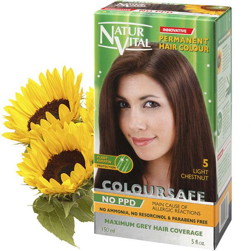 Naturvital-Ppd Free Coloursafe Light Chestnut No. 5 Hair Dye