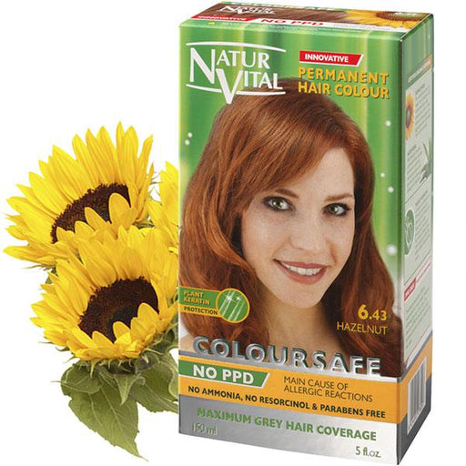 Naturvital-Ppd Free Coloursafe Hazelnut No. 6.43 Hair Dye