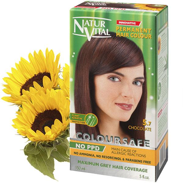 Naturvital-Ppd Free Coloursafe Chocolate No. 5.7 Hair Dye