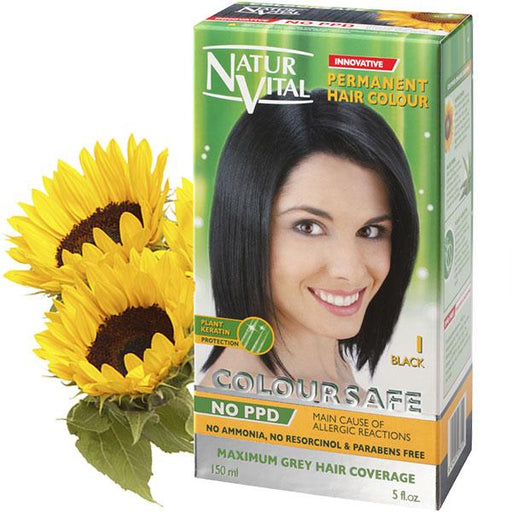 Naturvital-Ppd Free Coloursafe Black No. 1 Hair Dye