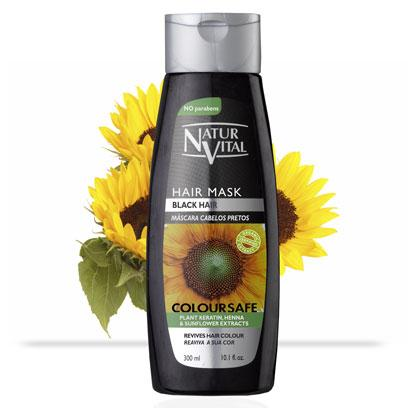 Naturvital-Coloursafe Black Hair Mask