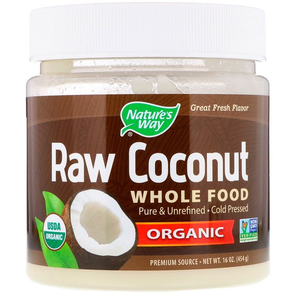 Nature's Way Organic Raw Coconut Whole Food 16 oz