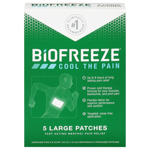 BIOFREEZE Cool the Pain Patches 5 pcs