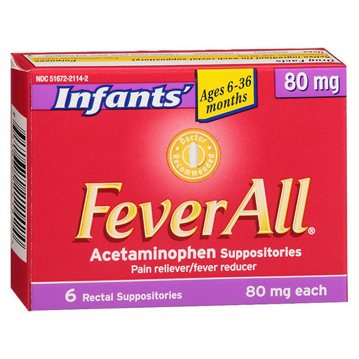 FeverAll Infant Suppositories 80mg