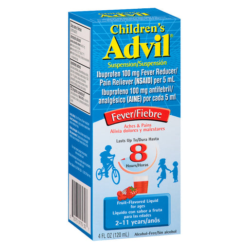 Children's Advil Ibuprofen Fever Reducer/Pain Reliever Oral Suspension Fruit 4.0oz