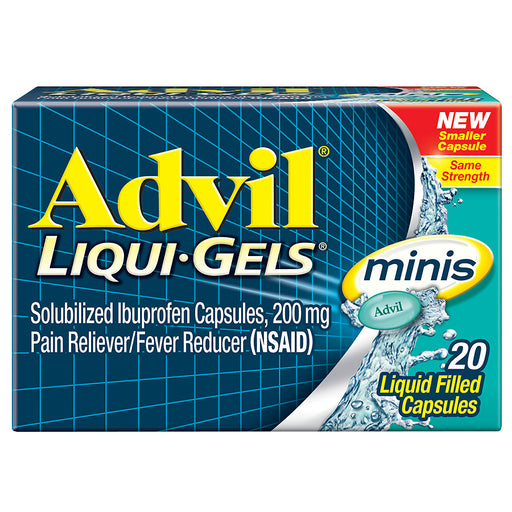 Advil Liqui-Gels Minis Ibuprofen Pain Reliever & Fever Reducer Capsules, 200mg