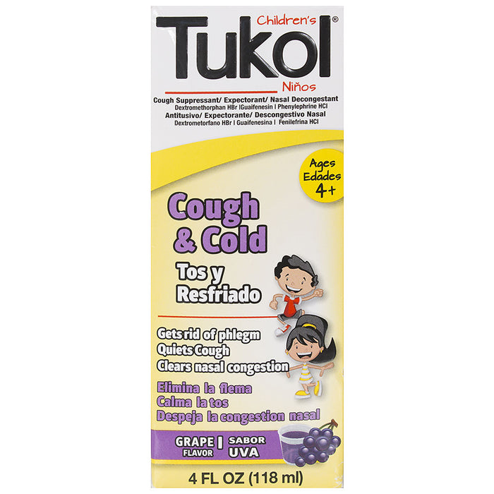 Tukol Children's Cough & Cold Syrup Grape, Grape
