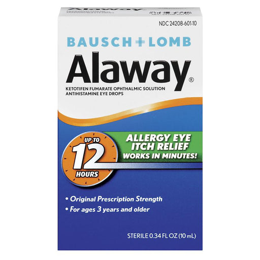 Bausch + Lomb Alaway Eye Itch Relief Antihistamine Eye Drops