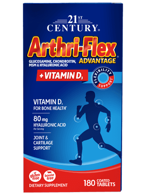 21st Century Arthri-Flex Advantage + Vitamin D3 - 120 Coated Tablets