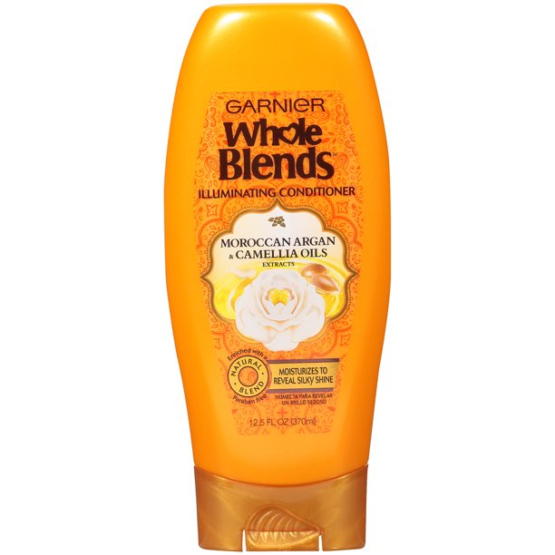 Garnier Whole Blends Conditioner with Moroccan Argan & Camellia Oils Extracts, 12.5 fl. oz.