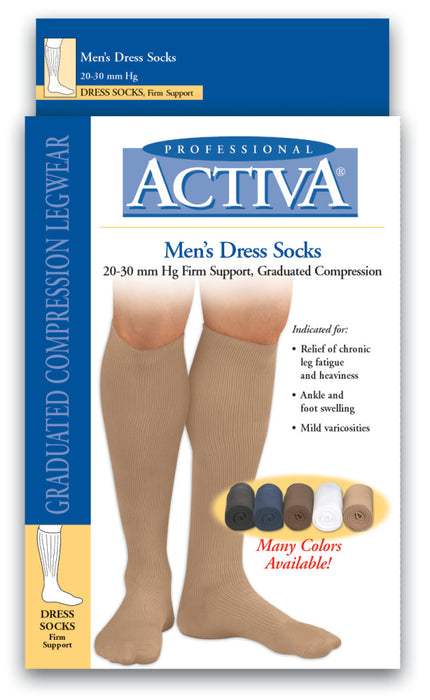 Activa Men's Dress Socks Lite/Firm Support  MODELS: H25 & H35