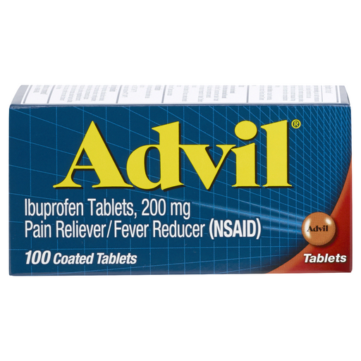Advil Ibuprofen 200mg Pain Reliever/Fever Reducer 100 Coated Tablets