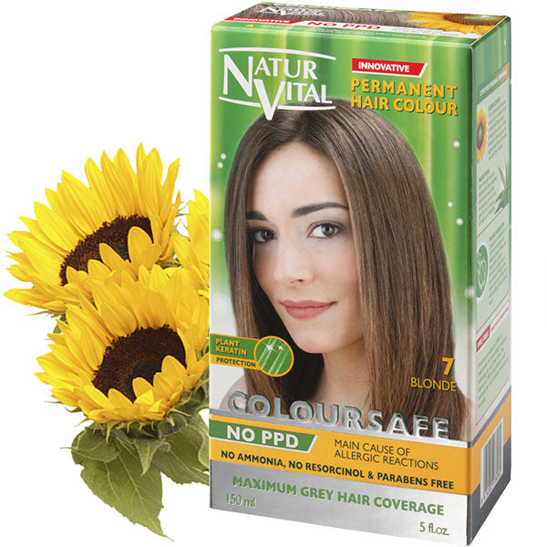 Naturvital-Ppd Free Coloursafe Blonde No. 7 Hair Dye