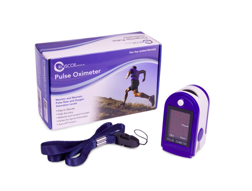 Roscoe OTC Fingertip Pulse Oximeter Includes Lanyard
