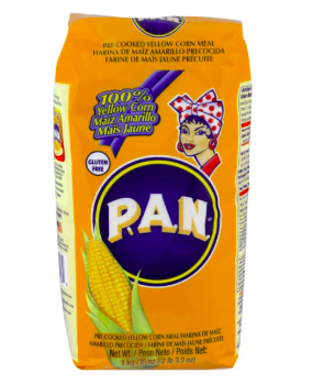 PAN Corn Meal, Yellow, Pre-Cooked - 1 kg