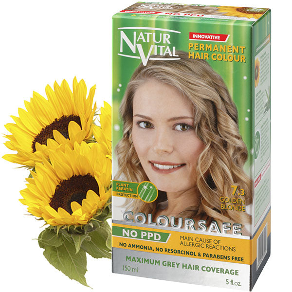 Naturvital-Ppd Free Coloursafe Golden Blonde No. 7.3 Hair Dye