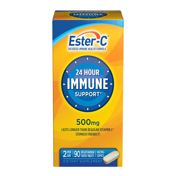 Ester C 500 mg Vitamin C Vitamin Supplement Coated Tablets , stomach friendly, 90 CT