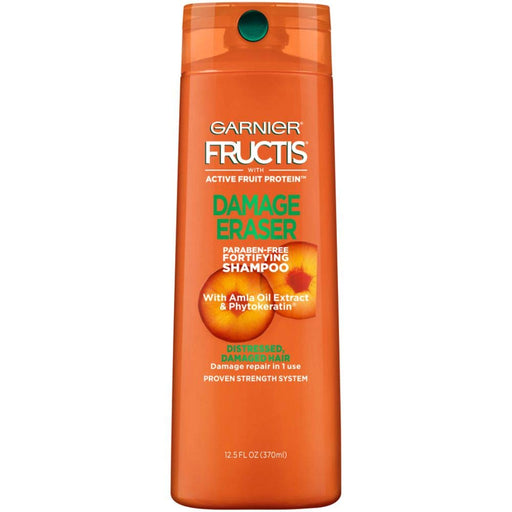Garnier Fructis Damage Eraser Shampoo, Distressed, Damaged Hair, 12.5 oz.