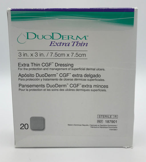 ConvaTec DuoDerm Extra Thin CGF Dressing 3 in. x 3 in. (20 units)