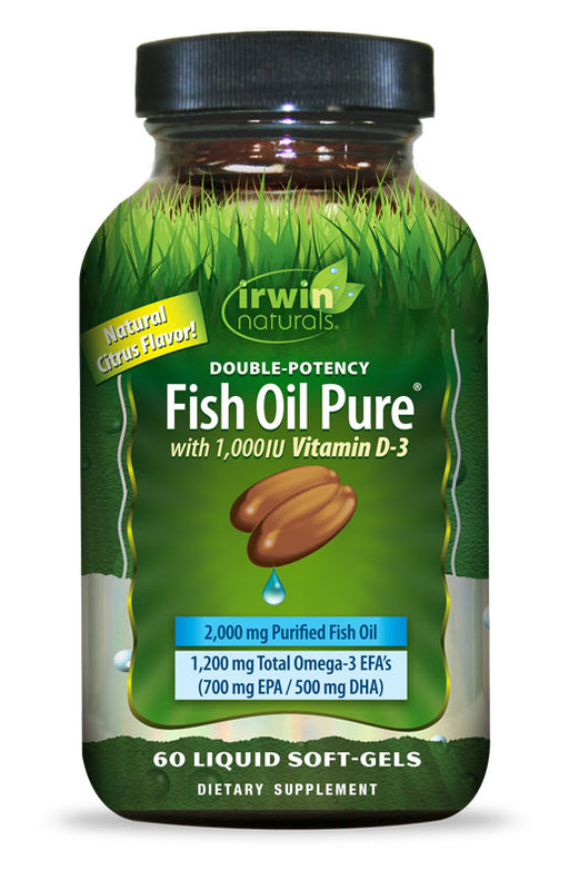 Irwin Naturals Double-Potency Fish Oil Pure