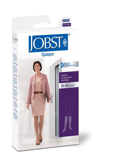 JOBST Opaque Stockings Knee Open Toe
