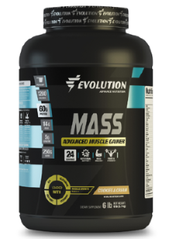 Evolution Advance Nutrition Mass - 6 LBS, Cookies & Cream