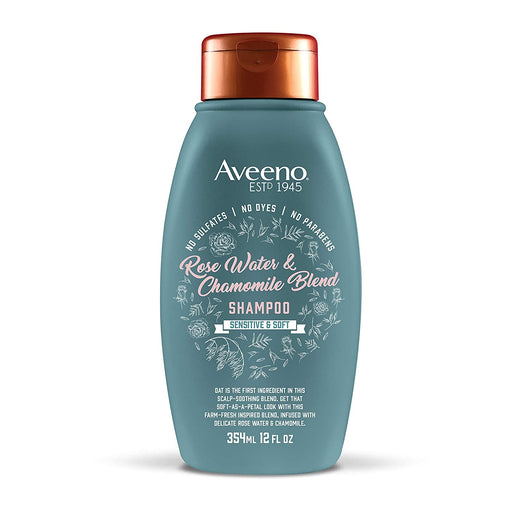 Aveeno Scalp Soothing Rose Water & Chamomile Blend Shampoo, 12 Oz