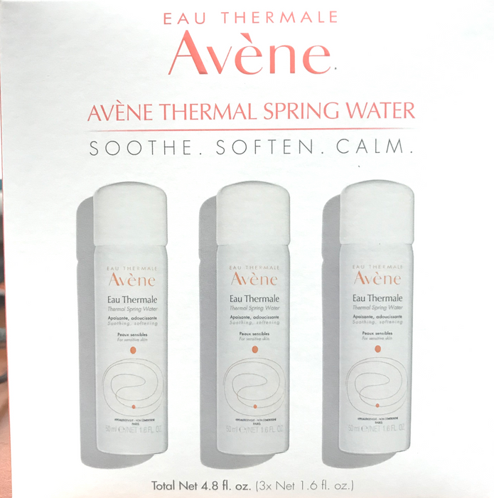 Avene Thermal Spring Water 3-to-go- kit 3x1 1.6 fl.oz