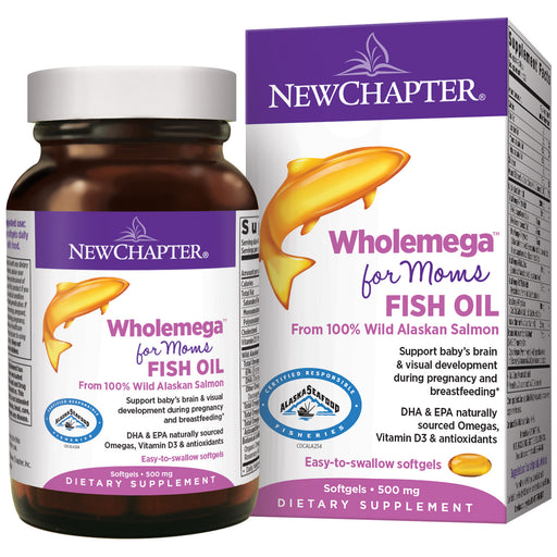 New Chapter Wholemega for Moms Fish Oil Supplement Prenatal DHA